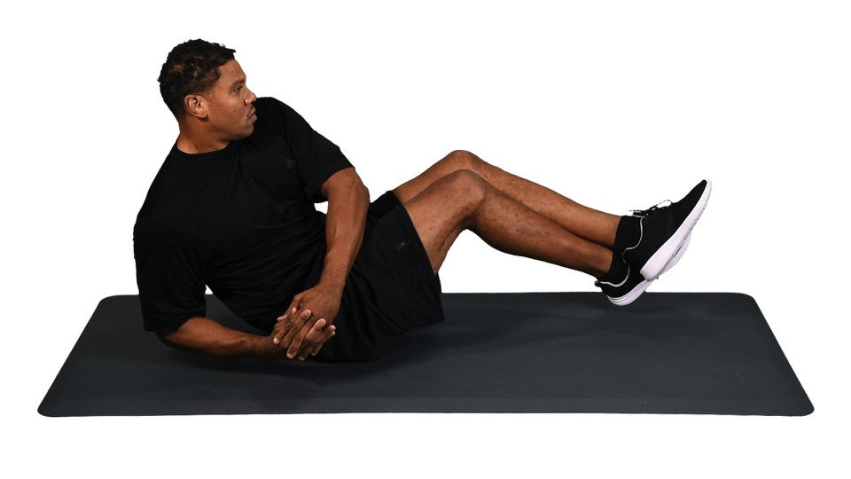 Crunches with Twist