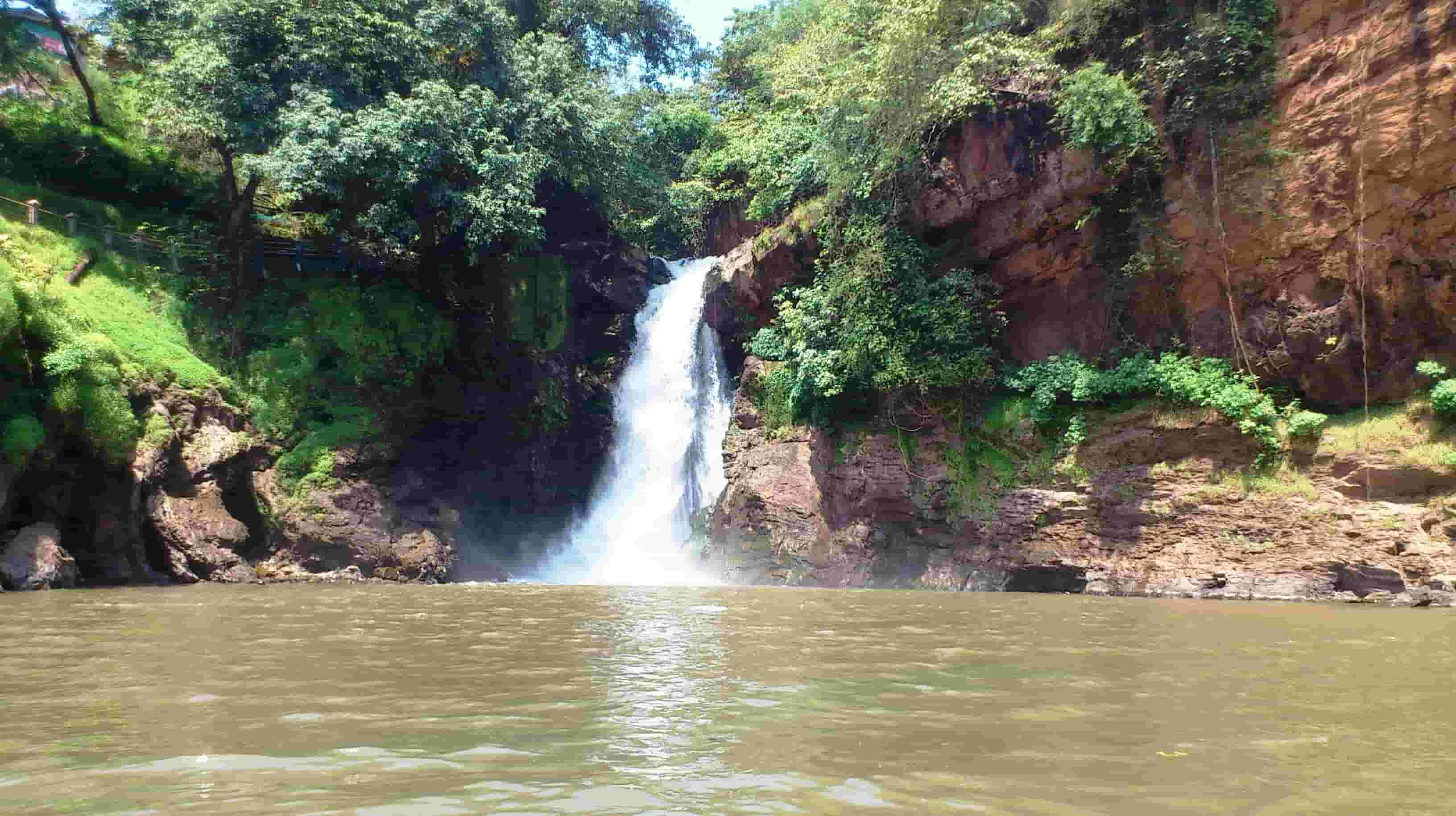 Pandava Caves and Arvalem Waterfall
