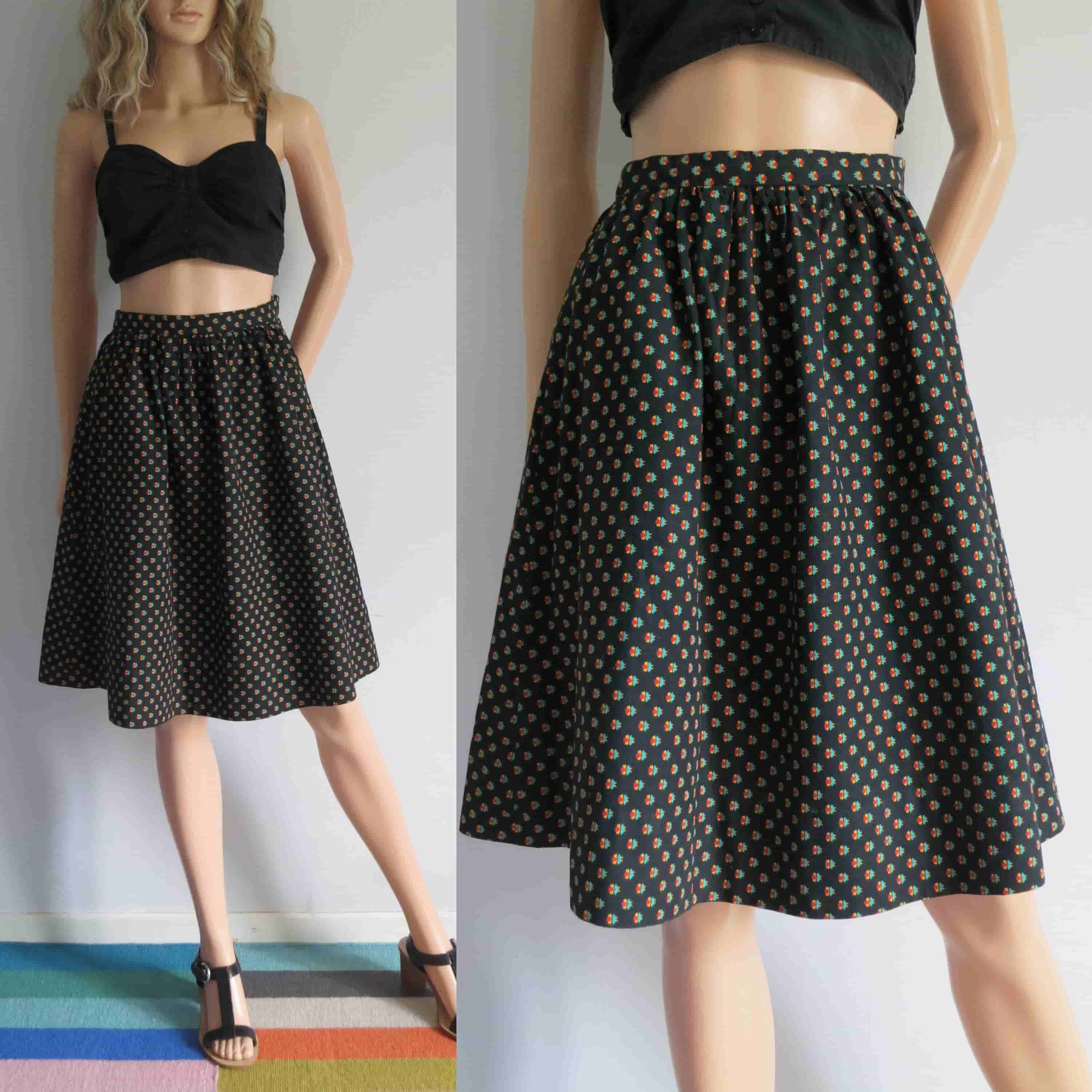Cotton- Patterned skirt