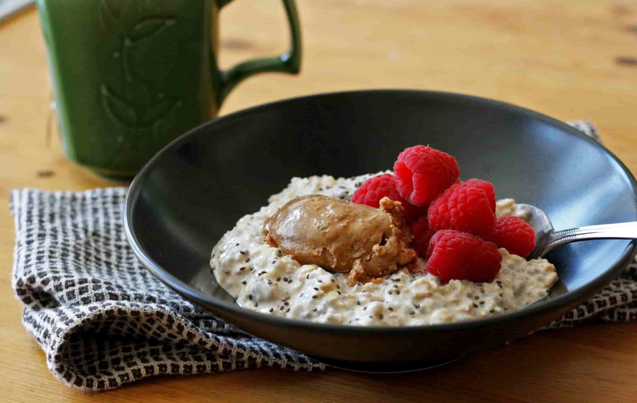 Oats with Almond Butter and Greek Yogurt