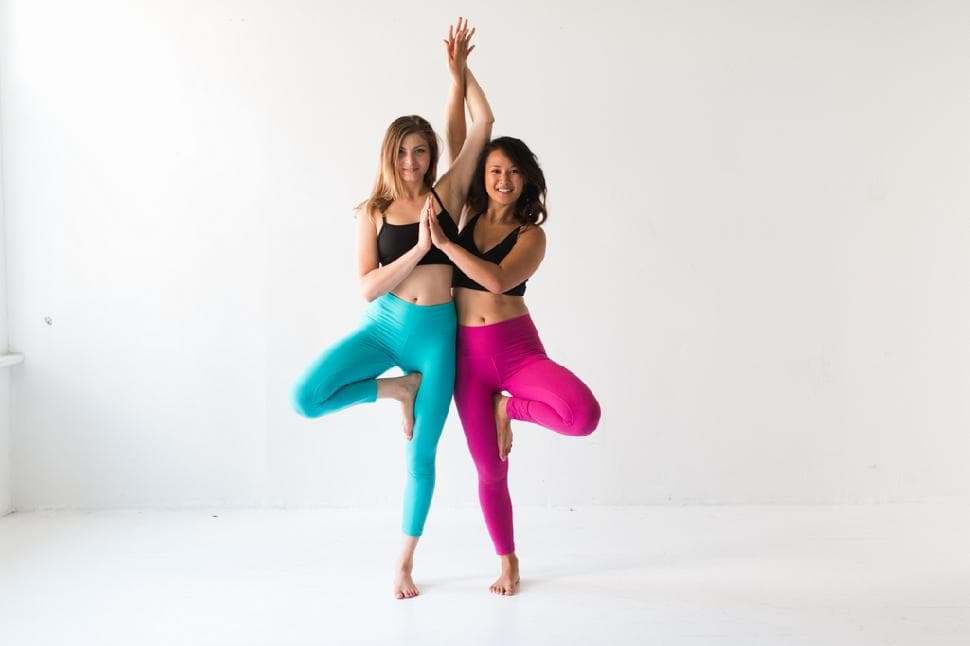 Tree Pose with Partner
